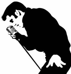 singer vector image vector image