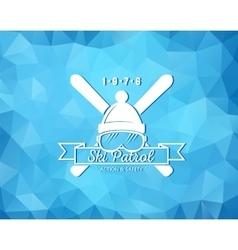 Ski resort logo vector