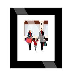 A frame on the wall vector