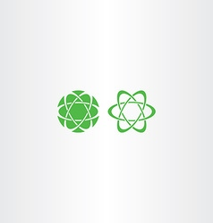 Abstract green energy science logo icon vector