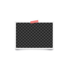Album blank photo horizontal frame placed on wall vector