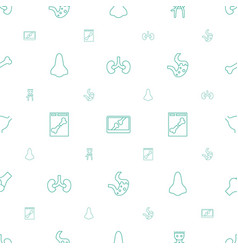 Anatomy icons pattern seamless white background vector