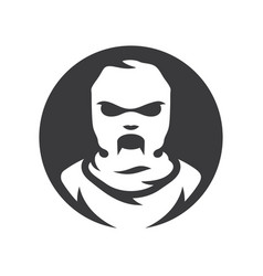 Balaclava zombie mask silhouette sign vector