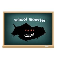board school monster vector image