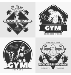 Body Building Emblem Set vector image