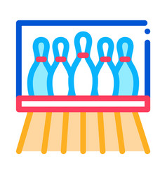 bowling lanes icon outline vector image