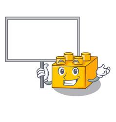 Bring board plastic building blocks cartoon on toy vector