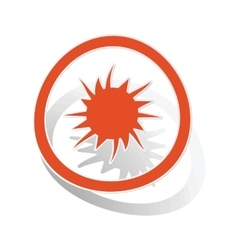 Burst sign sticker orange vector image
