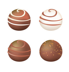 chocolate balls vector image