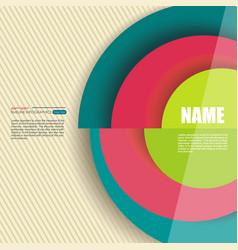circle segments infographic design use vector image