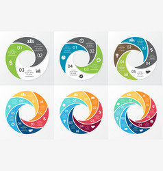 Circle swirl infographic template vector