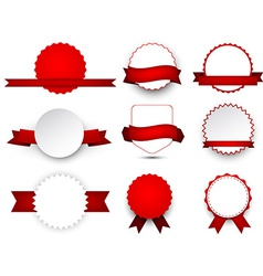 Collection of award badges vector image