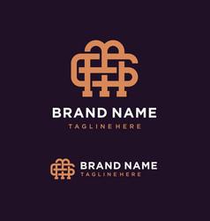 creative monogram letter mg logo concept vector image