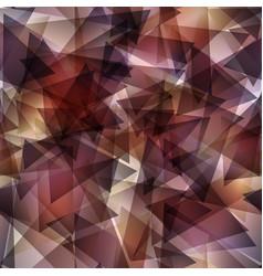 dark brown gradient triangle mosaic template vector image