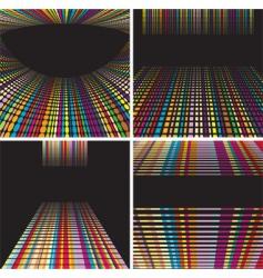 Digital backdrop set vector
