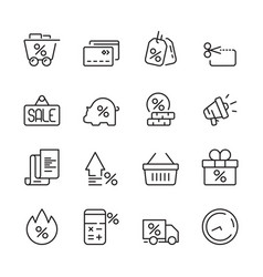 discount icon house money people interest price vector image