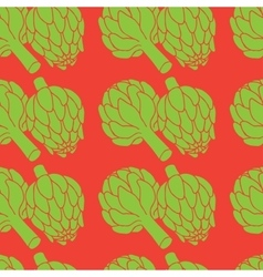 doodle of artichoke seamless pattern vector image