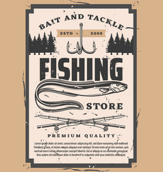 Eel fishing club fisher big catch bait and tackle vector
