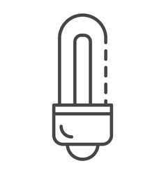 energy saving bulb icon outline style vector image