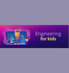 engineering for kids concept banner header vector image