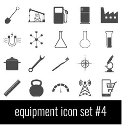 equipment icon set 4 gray icons on white vector image vector image