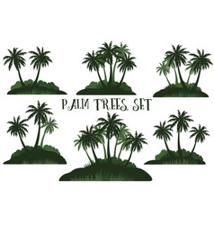 Exotic landscape with palms vector