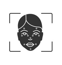 faceprint analysis glyph icon vector image