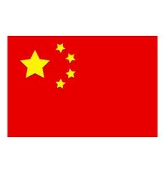 flag of china vector image