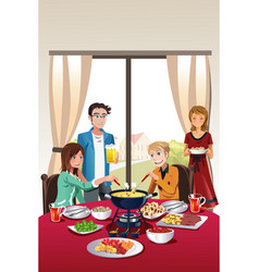 fondue party vector image