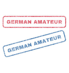 german amateur textile stamps vector image