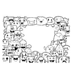 Hand drawn sketch doodle vector image