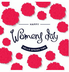 Happy womens day design template vector