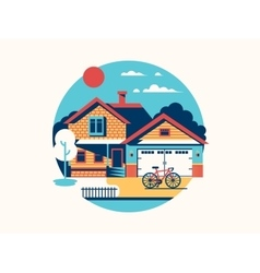 House icon isolated flat vector image