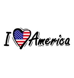 I Love USA vector image