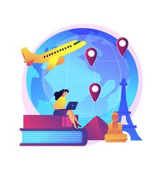 International tourism concept metaphor vector