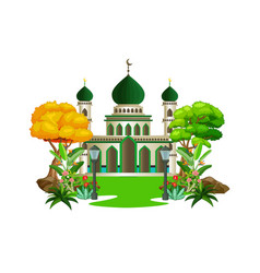 Islamic mosque cartoon vector