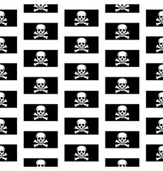 Jolly roger seamless pattern vector