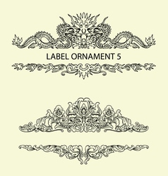 Label ornament 5 vector image