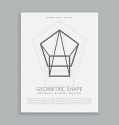 Line geometric symbol design vector