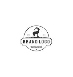 logos and badges farm goat isolated or white vector image