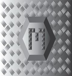 M Text Aluminium Wallpaper vector