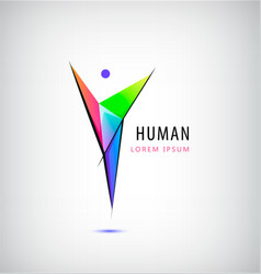 Man logo human body logo faceted vector