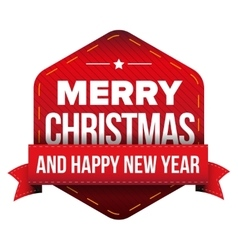 Merry Christmas and Happy New Year patch vector image