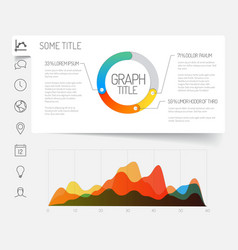 Minimalist infographic dashboard template vector