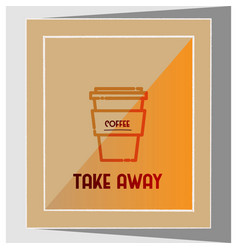 Minimalistic coffee flyer vector