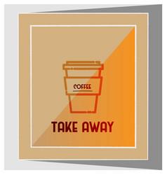 Minimalistic coffee flyer vector