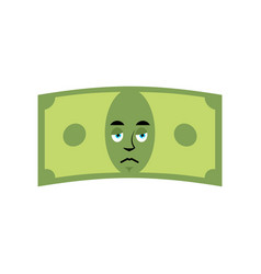Money sad emotion cash emoji sorry dollar isolated vector
