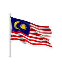 national flag of malaysia vector image