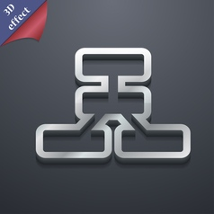 Network icon symbol 3D style Trendy modern design vector image