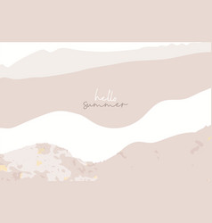 new collection summer chic banner template brush vector image